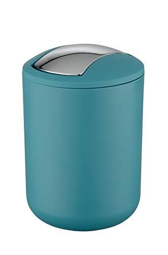 Wenko Brasil Cubo con Tapa 2 L, Elastómero Termoplástico (TPE), Petróleo, 14x14x21 cm