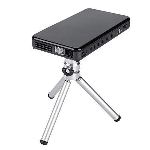 Tosuny Mini-projector USB-miniprojector voor aansluiting op smartphones en tablets, 50 ANSI-lumen 30-120 inch, ondersteunt 1080P / H.265 / 10-bits videodecoder (zwart)