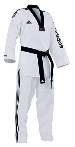 adidas - Dobok taekwondo col noir super master T/210 - ADITSM