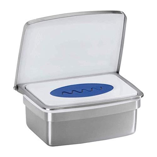 RB&G Caja para toallitas húmedas prémium de acero inoxidable de alta calidad. No se secan las toallitas. Soporte para papel higiénico húmedo.