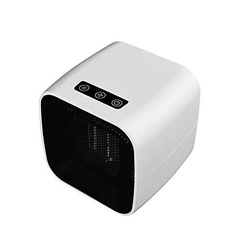 WOGQX Energiesparende Mini-Heizung Tragbare PTC-Keramik-Elektroheizung, 12-Stunden-Abschaltautomatik, 2 Modi Drehbare Multifunktions-Heizlüfter, Geeignet Für Das Büro Zu Hause,1