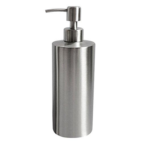 P Prettyia Metall Seifenspender Badezimmer Pumpspender für Flüssigseife - Silber, 1# 550ml