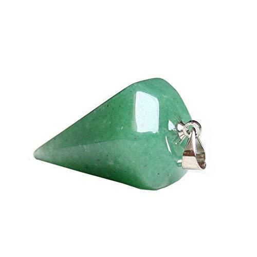 Purmy Mujer Collares Collares Hombre Aventurina Verde Cristal Collares Quartz Piedra curativa Chakra Crystals Colgante de Columna Hexagonal,Las Mejores Joyas de Cristal para Hombres de Mujeres