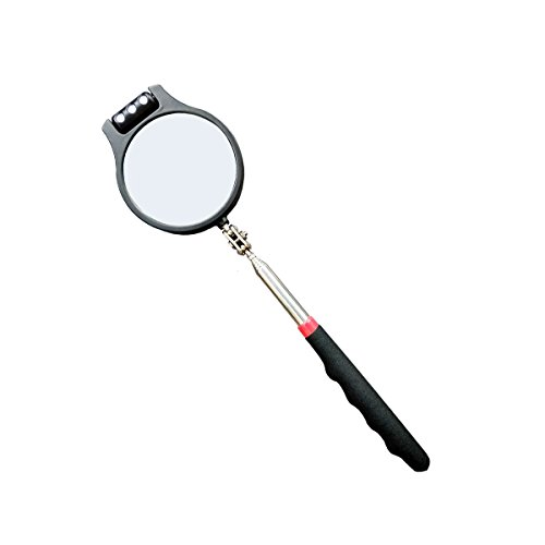 Telescoping Lighted Inspection Mirror?Telescoping LED Lighted Flexible Inspection Mirror 360 Swivel