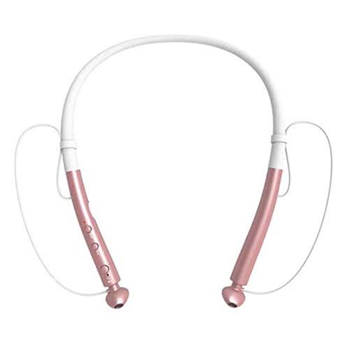 Auricolari Bluetooth stereo antirudore con riduzione del rumore dell'auricolare Bluetooth 5.0 cuffie con connessione magnetica (Golden)
