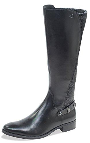 CAPRICE Damen Stiefel 25521-21,Frauen Boots,Lederstiefel,Reißverschluss, Decksohle,2.5cm,Black...