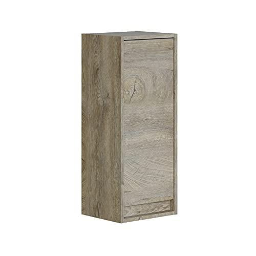 Columna de Baño Suspendido 1 Puerta, Mueble Lavabo, Modelo Dakota, Acabado en Color Roble Alaska, Medidas: 30 cm (Largo) x 74 cm (Alto) x 25,5 cm (Fondo)
