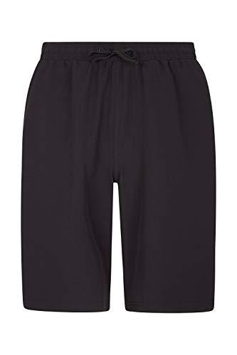 Mountain Warehouse Pantalones Cortos para Correr Nine Hurdle para Hombre - Ligeros - Rápida absorción - Bolsillo Interno - Cintura elástica - para Ciclismo y Gimnasio Negro XXS