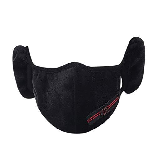 Cache-Oreilles de Bandanas 2-en-1 Anti-poussière Chauds Respirants, Unisexe pour la Moto, Le Ski, la randonnée, Le Cyclisme et Sports de Plein air d'hiver