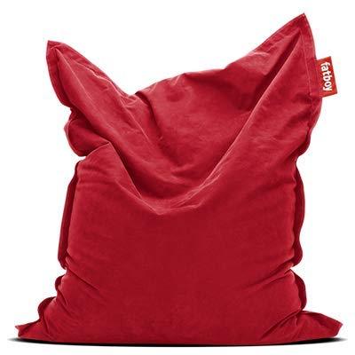 Fatboy® The Original Stonewashed Pouf Poire Bean Bag/Coussin/Fauteuil/canapé d'intérieur XXL | Rouge | 180 x 140 cm