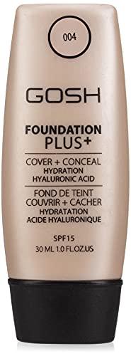 Gosh Copenhagen Foundation Plus + Cover & Conceal Spf15 004 Natural 30 ml, chestnut