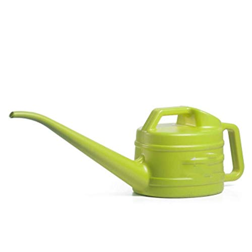 NJIUHB Gieter, Long Mouth Nozzle Plastic Household Gardening Douche Tool Watering Pot Oppotten Ketel douchebak, 2.4L (Color : Green)