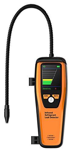 Elitech ILD-100 Infrarot-Leck-Detektor für Kältemittel, Gas-Leck-Detektor, mit flexibler Infrarot-Sonde und großem LCD-Display, gut lesbar, hohe Empfindlichkeit 【3 Jahre Garantie】