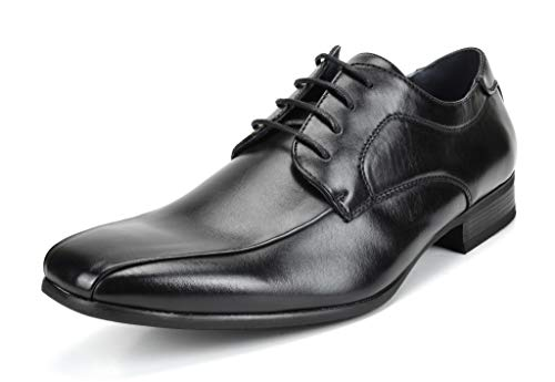 Bruno MARC GORDON-05 Men's Formal Classic Snipe Toe Lace Up Leather Lining Oxford Dress Shoes Black Size 12