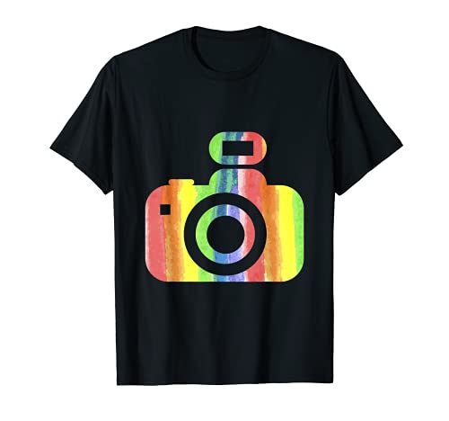 Minimalista sencilla cámara LGBTQ fotógrafo Camiseta