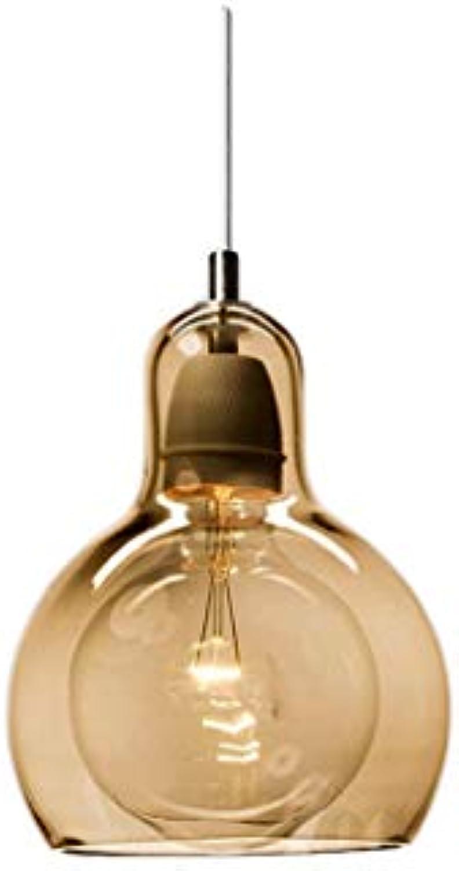 Oudan Moderne Einfache Esszimmer Kronleuchter Kreative Kunst Wohnzimmer Beleuchtung Glas Lampe Mode ZHJING (Farbe  GRAU, Gre  18  23 cm) (Farbe   Braun, Gre   11  16.5cm)