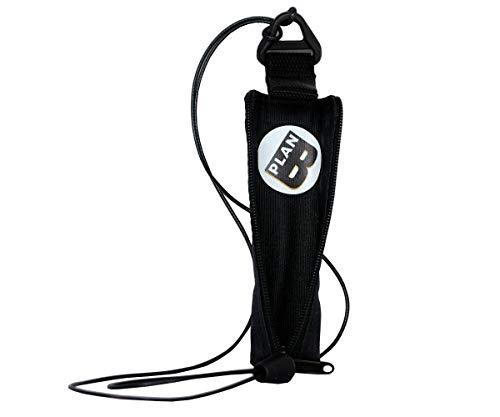 Plan B E-Zigarette Tasche Myblu Basic (12 x 2.80 cm) mit 100 cm Schnur mit Reißverschluss Schwarz