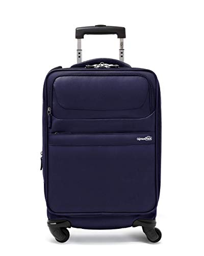 Genius Pack G4 22' Carry On Spinner Luggage - Smart, Organized, Lightweight Suitcase (G4 - Navy)