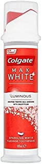 [Colgate ] コルゲート最大白発光ミント歯磨き粉ポンプ100ミリリットル - Colgate Max White Luminous Mint Toothpaste Pump 100ml [並行輸入品]