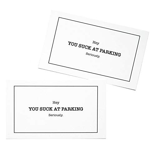 RXBC2011 You suck at Parking Cards Minimalist Style Bad Parking Card Gag Gift (Pack of 100) Photo #4