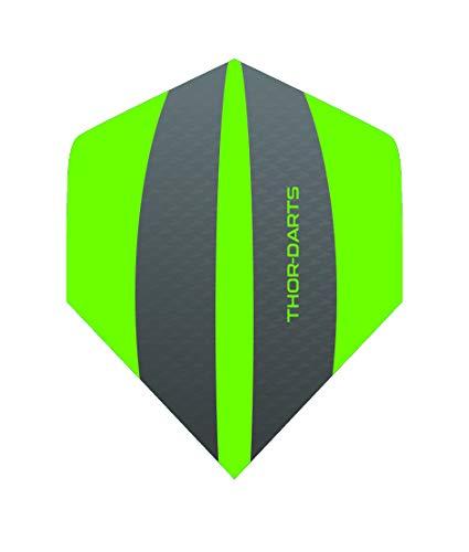 THOR-DARTS Exclusiv-Line: 6 grün-graue F3 Darts Flights HD-240 F3 grün/grau Dart Flys extra Lange haltbar Thickness > 100 mic (6 Stück (2 Set), grün)