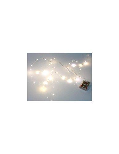GUIRLANDE À LED - BLANC CHAUD - 20 LEDs - SUR PILES