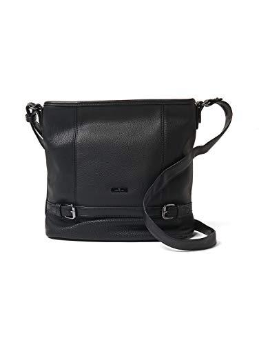 TOM TAILOR Damen Taschen & Geldbörsen Hobo-Tasche Juna schwarz/Black,OneSize