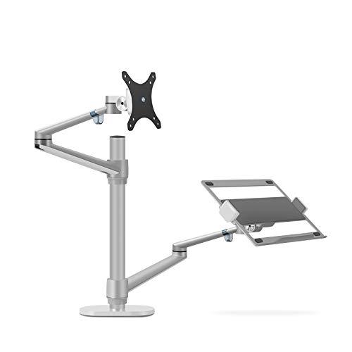Thingy Club Monitor- und Laptophalterung mit zwei Armen, für Bildschirmdiagonale bis 76,2 cm (30 Zoll) und 30–43,2 cm (12-17 Zoll) Laptop