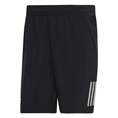 adidas Club - Pantaloncini da Tennis a 3 Strisce da Uomo, Uomo, Pantaloncini, S1907M500, Nero/Bianco, S