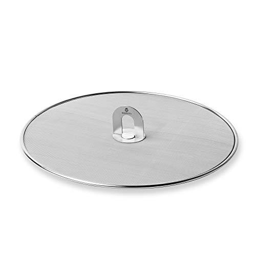 Homestia Grease Splatter Screen for Frying Pan Fine Mesh Stops Stove Oil Guard Skillet Lid Heavy Duty, 11.5 In,M