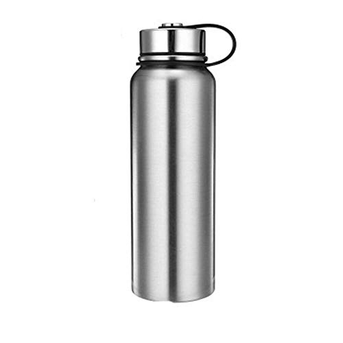 ZYLLL Thermoskanne Doppelwandige Edelstahl Isolierflaschen Thermoskanne Tasse Tee Milch Reisebecher Thermoflasche Thermocup Just True Color 1100ml