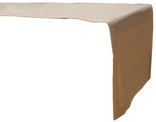 Beo Outdoor tafelkleden waterafstotende tafelloper, hoekig, 120 x 45 cm, beige