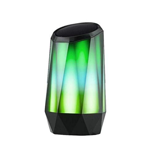 DBGS draadloze bluetooth-luidspreker, beweegbaar buitenshuis, kleurrijk gradient licht vaas model 3,5 mm audio-ingang 1200 mAh TF-kaart ondersteuning Voice Prompt Call Function