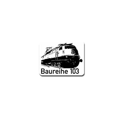 Copytec Aufkleber/Sticker - Baureihe 103 Lokomotive Elektrolokomotive Bahn Museum Lokomotivführer Eisenbahn Bundeswehr Militär Emblem 9x7cm #A4233