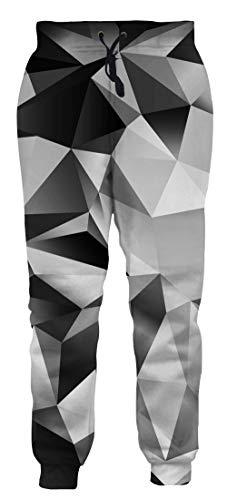 chicolife Unisex Joggerhosen Lustige 3D Sweatpants mit UnregelmäßIger Form Grafik Gymnastikhose Baggy Sport Pants für Herren Damen Junge Mädchen