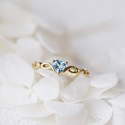 SHYSBV Ringen Mode Kristal Twist Hart Bruiloft Ringen Voor Vrouwen Goud Kleur Elegante Verlovingsringen