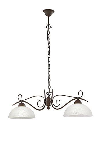 lampadario soggiorno ferro Trio R3432-24 Country Sospensione