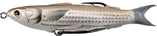 Isca de banho com corpo vazado de mullet Live Target, Marrom natural, 11,34 cm (4 1/2 Polegadas) - 14,1 g - 6/0, Multicolored, One Size