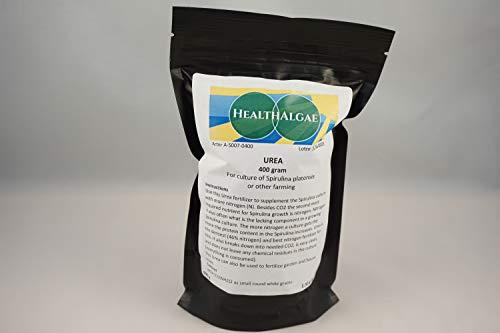 HealthAlgae 136/5000 UREA-Dünger, 400 g (schwedischer Grad) für Gartenbau und Spirulina-Anbau, dichtester Stickstoffdünger von hoher Qualität (400) (400 Gram)