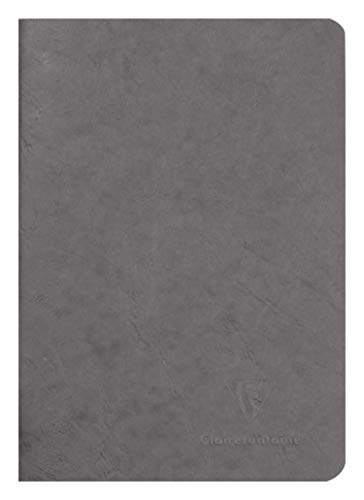 Clairefontaine 733105C Heft AgeBag (DIN A5, 14,8 x 21 cm, blanko, ideal für Ihre Notizen und Zeichnungen, 48 Blatt) 1 Stück grau