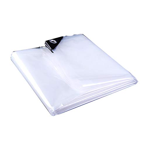 WZNING Plastic Sheeting, 0.12mm Thick Light Soft Transparent Environmental Protection Waterproof Dust Proof Windproof Keep Warm PE Rain Cloth, 24 Sizes Durable and protective