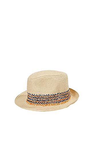 ESPRIT Accessoires Damen 050EA1P301 Panama-Hut, 295/CREAM BEIGE, S