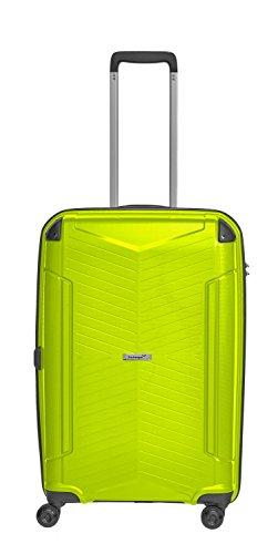 Packenger Koffer - Silent - (L), Grün, 4 Zwillingsrollen, 71 Liter, 3,9Kg, Koffer mit TSA-Schloss, Polypropylen, Reise Trolley