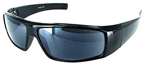 Boomer Eyeware Classic Wrap Around Designer Reading Sunglasses for Men & Women, 1.75, Black