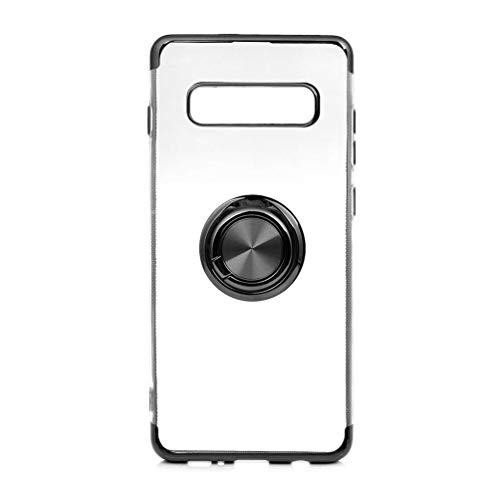 Funda para Samsung Galaxy S10/Galaxy S10 Plus Teléfono Móvil Silicona Bumper Case Funda con Anillo Giratorio de 360 Grados Rotaria Ring Holder Protectora Caso