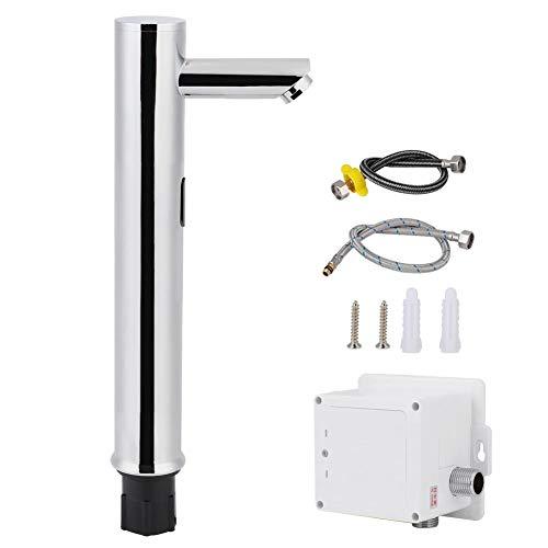 Grifo de Sensor, Grifo de Agua de latón G1/2in Grifo de Sensor automático sin Contacto frío Simple para baño sin Contacto para Manos(02)