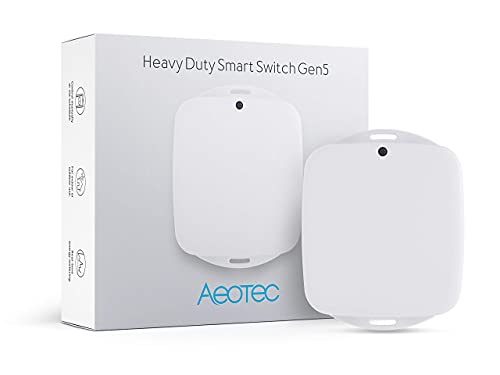 Aeotec Heavy Duty Smart Switch, Z-Wave Plus Home Security ON/OFF controller, 40 amps record electricity consumption