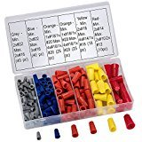 SwitchMe 158Pcs Wire Connectors Spring Insert Easy Twist-On Screw Terminals Nuts Caps Assortment Kit