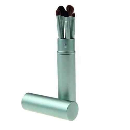 5 Maquillage Pinceaux Pour Les Yeux - Poils De Pony, Virole En Aluminium, Tube d'Aluminium Vert by DELIAWINTERFEL