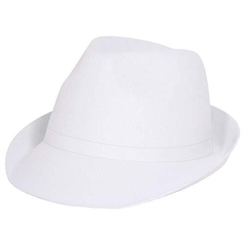 Folat 6086 Tribly Party Chapeau classique unisexe pour adulte Blanc Taille unique